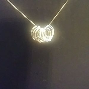Jewelry - Simple gold rings necklace